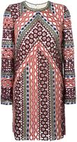 Tory Burch multi-print longsleeved dress - women - Polyester/other fibers - 6