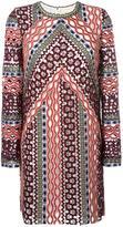 Tory Burch multi-print longsleeved dress