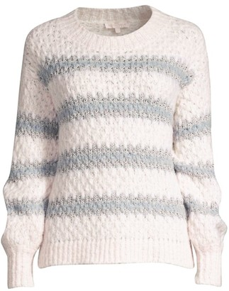 Rebecca Taylor Lurex Stripe Knit Sweater