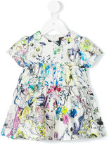 Roberto Cavalli floral print dress - kids - Silk/Cotton - 9 mth