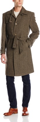 Stacy Adams Men's Big-Tall Mick Three Button Top Coat