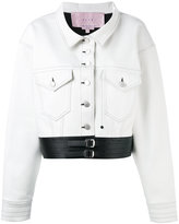Alyx - cropped jacket - women - Cotton/Artificial Leather - S