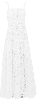 Merlette New York Ordesa Broderie-anglaise Cotton Maxi Dress - White