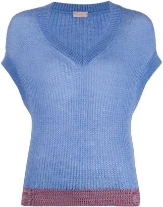 Mrz sleeveless V-neck jumper