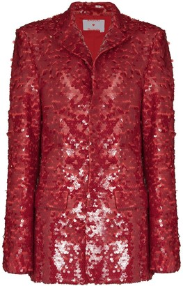 ANOUKI Sequin Embroidered Blazer