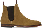 H By Hudson Tan Suede Tamper Chelsea Boots