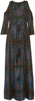 Rachel Zoe Mari cutout printed maxi dress