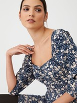Very Floral Puff Sleeve Tea Dress