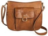 Bolo Born Women's Leather Crossbody Handbag with Front Pocket Organization