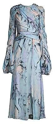 Flor Et. Al Women's Arandas Silk Chiffon Full-Sleeve Gown