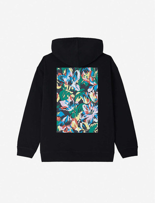 Kenzo x Vans logo and floral-print cotton-jersey hoody