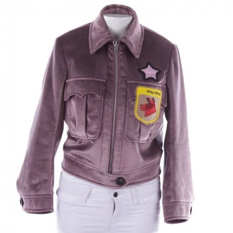 Miu Miu Purple Velvet Jacket for Women