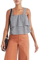Madewell Women's Gingham Tier Top