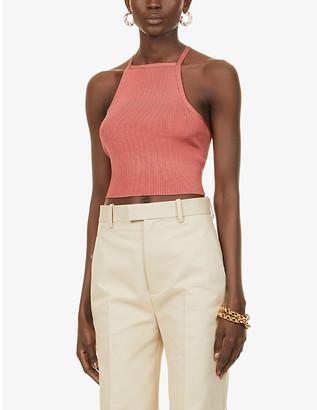 Cult Gaia Lala tie-back stretch-knit top