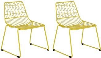 Acessentials Kids Geometric Wire Chairs 2-Piece Set