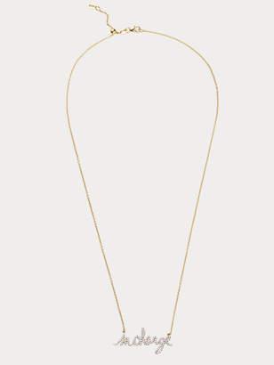 Diane von Furstenberg InCharge Small 14k Gold Necklace with Diamonds
