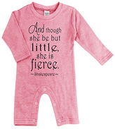 Urban Smalls Heather Pink 'Little But Fierce' Playsuit - Infant
