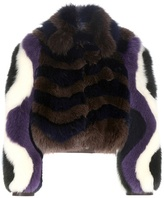 Fendi Printed Fur Jacket