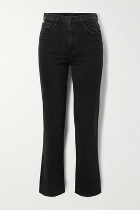 J Brand Jules Distressed High-rise Straight-leg Jeans