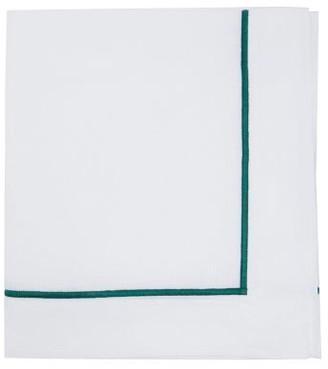 Angela Wickstead - Set Of Four Embroidered-border Linen Napkins - White Multi