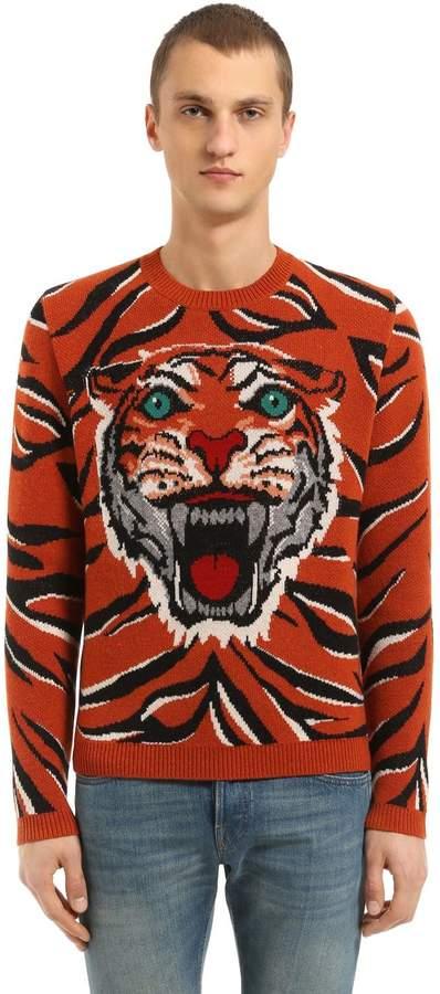 Gucci Tiger Wool Jacquard Sweater