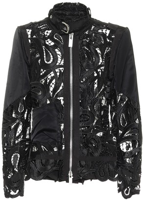 Sacai Lace satin jacket