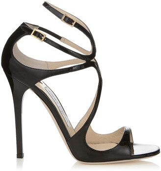 Jimmy Choo LANCE Black Patent Leather Sandals