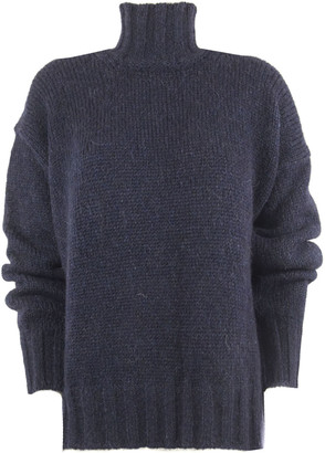 Dondup Blue Alpaca Sweater