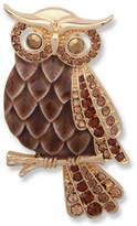Anne Klein Crystal Owl Brooch
