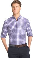Izod Men's Advantage Classic-Fit Checked Stretch Button-Down Shirt