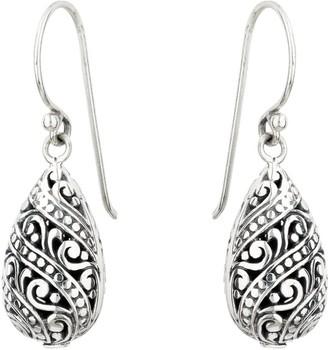 Mirabelle Jewellery Lace Drop Earrings Sterling Silver