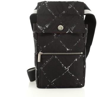 Chanel Travel Line Waist Bag Printed Nylon Small
