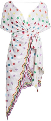 All Things Mochi Camila Embroidered Side-Tie Dress