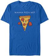 Fifth Sun Men's Tee Shirts ROYAL - Royal Blue 'Wanna Pizza Me' Tee - Men