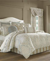 J Queen New York Romano Ice Blue 4-Pc. Queen Comforter Set Bedding