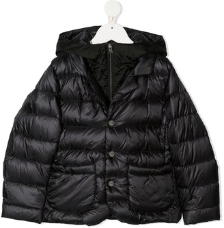 Herno Layered Down-Filled Hooded Coat