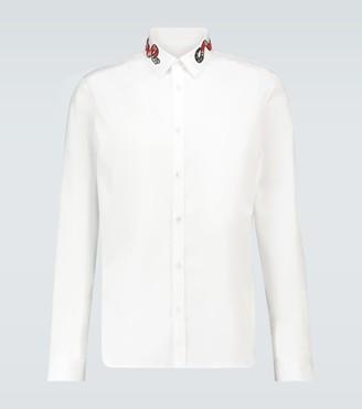 Gucci Duke snake-detail slim-fit shirt