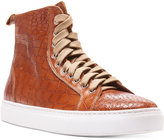 Donald J Pliner Men's Lenio Crocco Hi-Top Sneakers