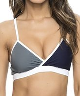 Nautica Women's Block and Tackle Sport Bra Bikini Top
