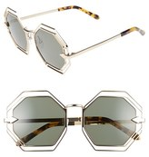 Karen Walker Women's 'Emmanuel' Octagonal 55Mm Sunglasses - Gold/ Tortoise