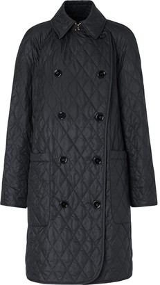 Burberry Double-Breasted Quilted Coat
