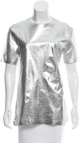 McQ by Alexander McQueen Oversize Metallic-Accented T-Shirt w/ Tags