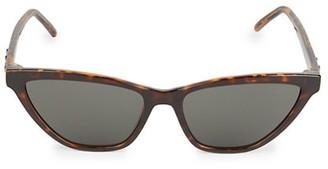 Saint Laurent 56MM Polarized Narrow Cat Eye Sunglasses