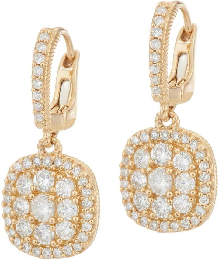 Judith Ripka 14K Gold 1.05 cttw Pave' Diamond Earrings