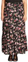 City Chic Plus Size Women's Free Spirit Maxi Skirt