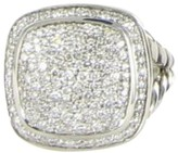 David Yurman Albion 925 Sterling Silver Pave 0.99cts Diamond Ring Size 7