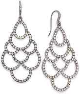 INC International Concepts I.N.C. Silver-Tone Crystal Scalloped Chandelier Earrings, Created for Macy's