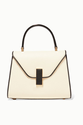Valextra Iside Mini Two-tone Textured-leather Shoulder Bag - White