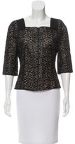 Akris Metallic-Accented Embroidered Blouse