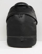 Asos Backpack In Faux Leather With Zip Pocket